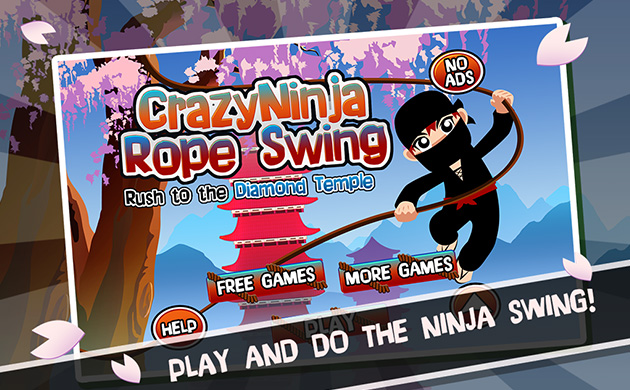Crazy Ninja Rope Swing